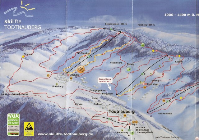 Piste Map Todtnauberg