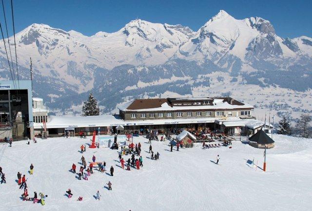 View of winter sports resort in St Gallen