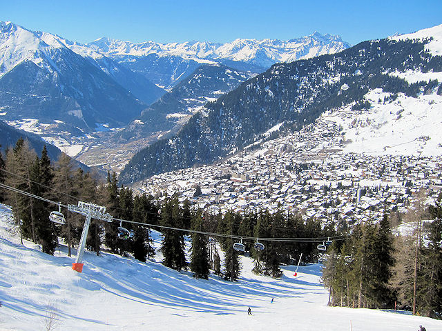 Ski Verbier by train