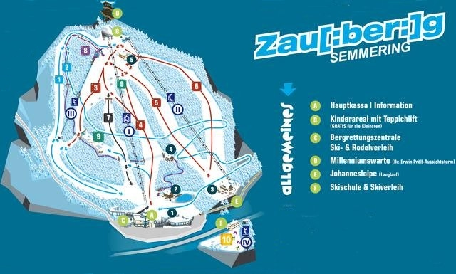 Ski and Snowboard using the Zauberberg Semmering trail map