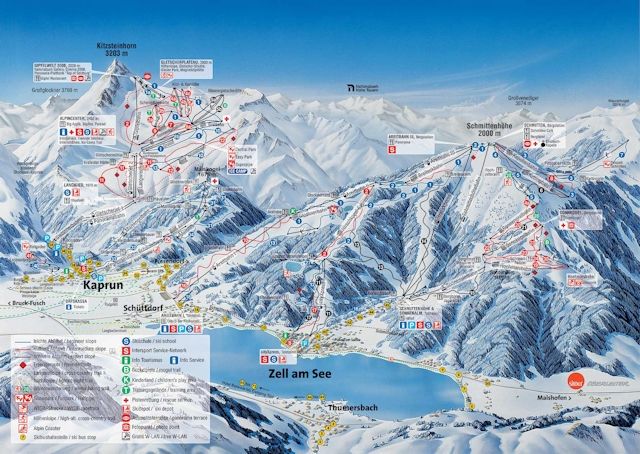 Ski and Snowboard using the Zell am See/Kaprun trail map