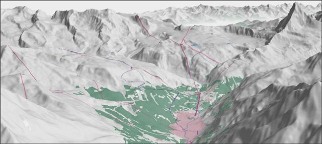 3D view of zermatt