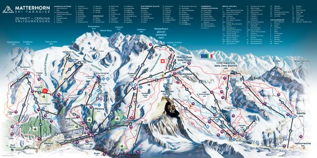 Ski and Snowboard using the Zermatt trail map
