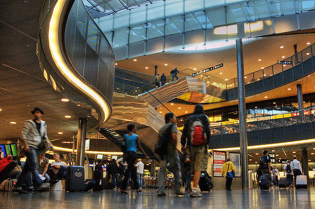 The station at Zurich Airport makes getting to the resorts a cinch
